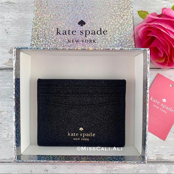 Kate Spade Glitter Slim Card Case - Gift Box
